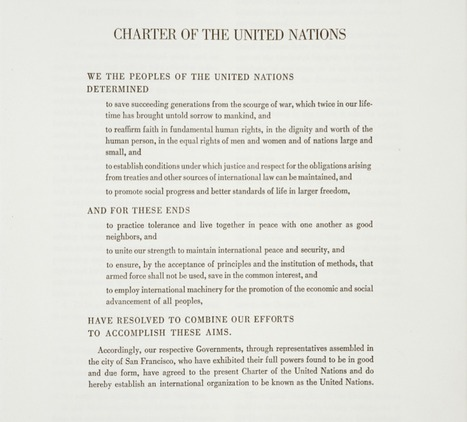 United Nations Charter (1945) and Resource Materials   Social Studies   Classroom Resources   PBS Learning Media   World History Semester II   Scoop.it