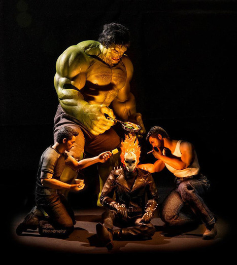 Photographer puts Marvel superheroes in not-so-super situations | Prozac Moments | Scoop.it