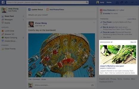 Facebook : des publicités plus grandes pour amadouer les annonceurs | Marketing Digital | Scoop.it