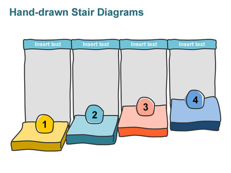 Stairs Diagram - Hand-drawn in PowerPoint | PowerPoint Presentation Tools and Resources | Scoop.it