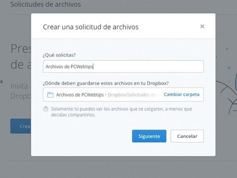Como recibir archivos en Dropbox de Cualquier persona | PCWebtips.com | plasticando | Scoop.it