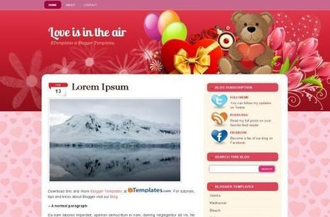 Valentine Pink Hearts Free Blogger Theme Download | Blogger themes | Scoop.it