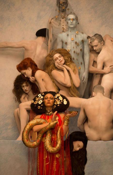 Inge Prader Recreates Gustav Klimt Paintings with Models | Backstage Rituals | Scoop.it