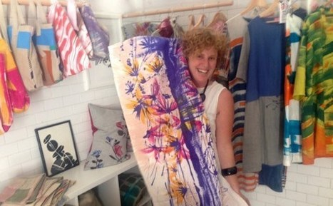 A Florentine Architect Paints Fabrics with Flair in Tuscany | Textile Horizons | Scoop.it