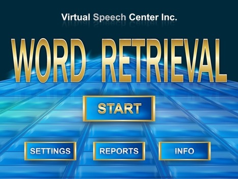Word Retrieval App | Speech and Language Therapy Apps | Scoop.it