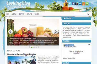 CookingBlog | Blogger themes | Scoop.it