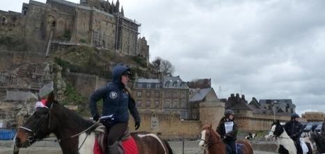 Equitaxe : une centaine de cavaliers manifeste au Mont-Saint-Michel | La Manche Libre avranches | Cheval et Nature | Scoop.it