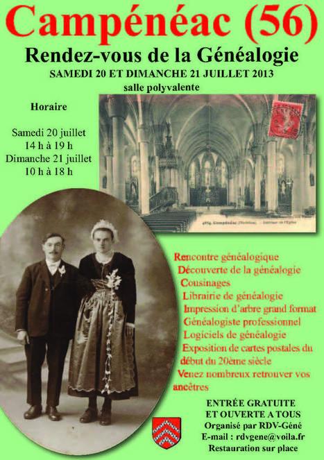 Salon de  Généalogie à Campénéac (56) les 20 & 21 juillet 2013 | Histoire Familiale | Scoop.it