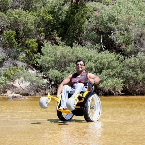 'Monster truck' wheelchair gives better beach experience | Accessible Tourism | Scoop.it