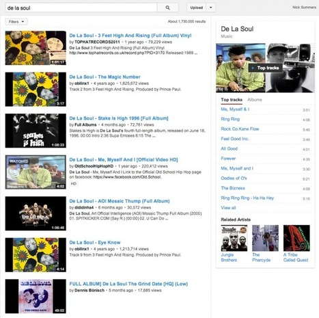 YouTube Shows Top Tracks and Album Playlists When Searching ... | What makes music catchy? | Scoop.it