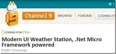 La stazione meteo basata su .Net MF su Channel9 ! - DevExperience | .Net Micro Framework | Scoop.it