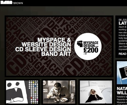 7 examples of innovative effects and techniques in webdesign | web | Scoop.it