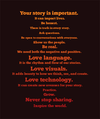 Digital Storytelling Manifesto | Amanda Lewan | Just Story It Biz Storytelling | Scoop.it