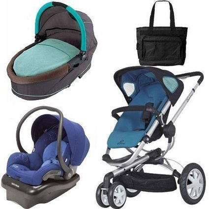 Quinny Buzz 3 Travel System and Dreami Bassinet in Blue with Diaper Bag | Baby Stroller Reviews | Scoop.it