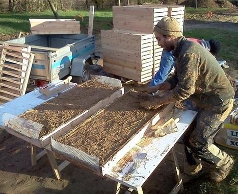 Réalisation des panneaux de terre crue « Ecolodge La belle verte   Ecolodge La Belle Verte, gîte et chambres d'hôtes en Bretagne   Scoop.it