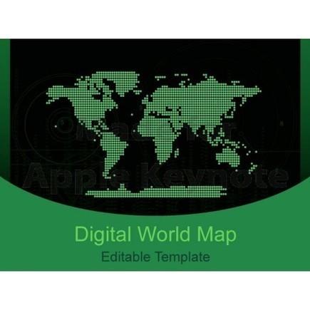 Digital World Map Keynote Template | Keynote Slide Formatting: Create better looking presentations | Scoop.it