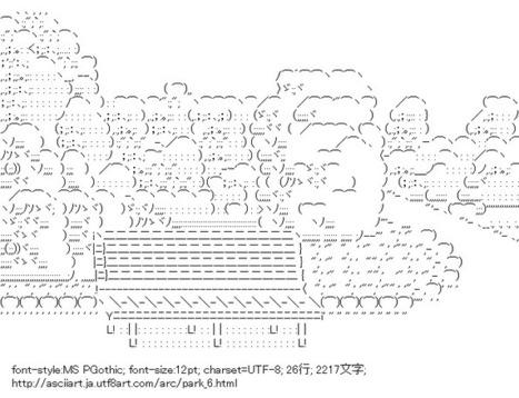 公園 | ASCII Art | Scoop.it