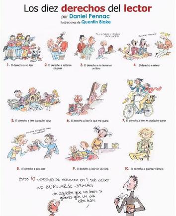 Los 10 Derechos del Lector | Cosas que interesan...a cualquier edad. | Scoop.it