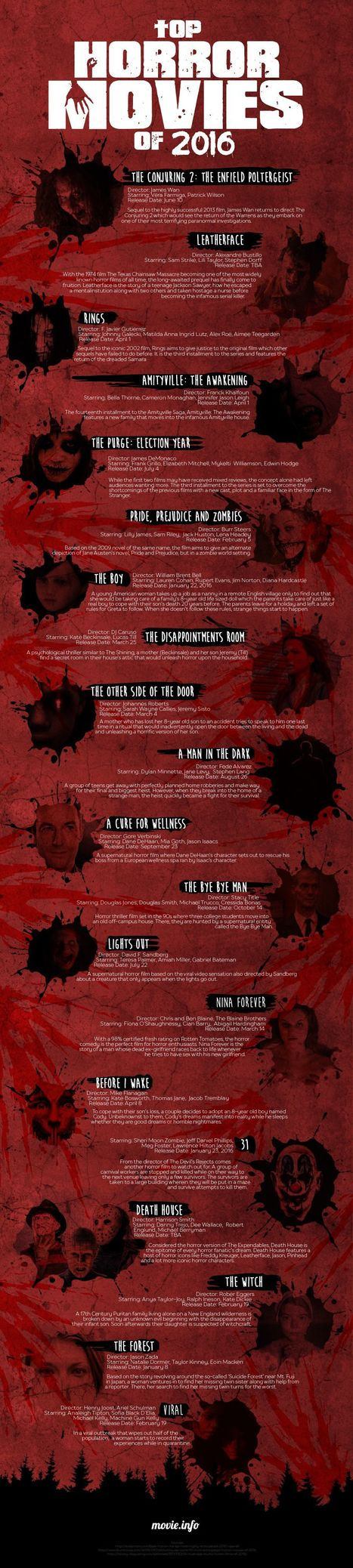 Top Horror Movies to Watch Out For This 2016 | Infographics | Scoop.it