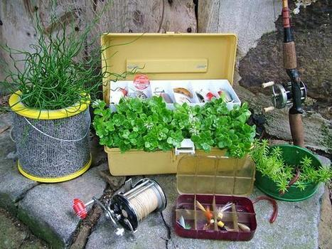 Creative container garden for the cabin | Upcycled Garden Style | Scoop.it
