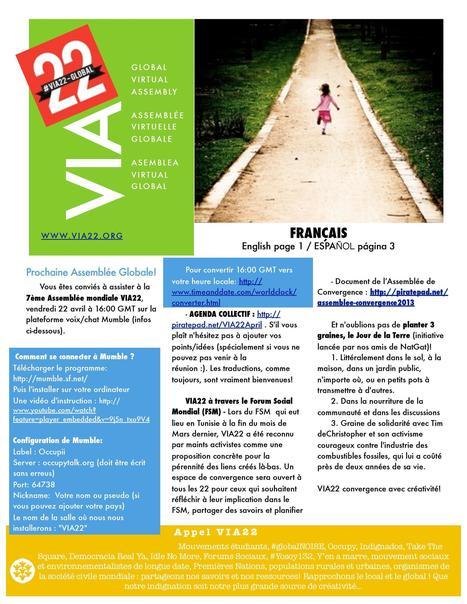 REUNION INTERNATIONALE VIA22 ( Reseau occupy suite FMS) Version Française | Chuchoteuse d'Alternatives | Scoop.it