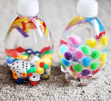 keep your baby entertained with this bottle filled with colourful goodies | awesome stuff for kids | Scoop.it