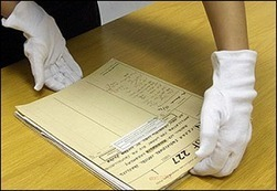 Gloves off for filming at the archives | Reading discovery | Scoop.it