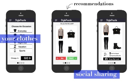 An app which helps anyone get dressed with outfit recommendations from their own wardrobe | StylePuzzle | Scoop.it