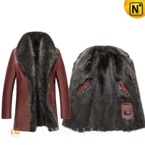 CWMALLS® Raccoon Fur Leather Jacket CW855581 | Leather Trench Coat | Scoop.it