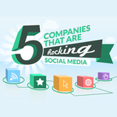 5 Companies That Are Rocking Social Media [Infographic]   visualizing social media   Scoop.it