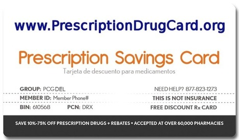Free Prescription Drug Card Saves Money at the Pharmacy - Free Prescription Drug Card | Prescription Drug Card | Scoop.it