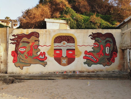 Street art in Israel<br/>by artists PESH and DIOZ.<br/>Photo by PESH.&#65279; | World of Street &amp; Outdoor Arts | Scoop.it