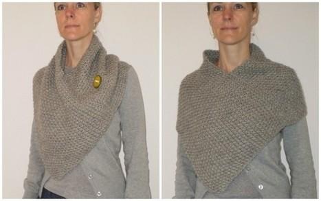 Lilla poncho er færdig... | Knitting | Scoop.it