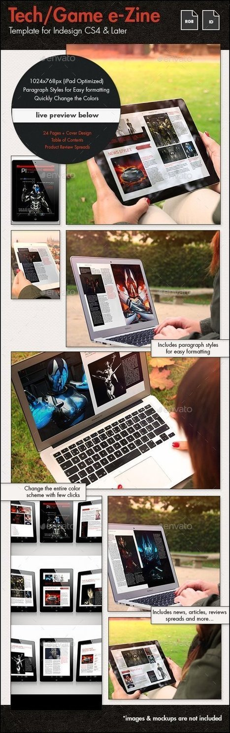 Tech/Games e-Zine Template for Tablets | About Design | Scoop.it