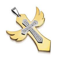Stylish Designer Gold Pendants for Men   Stainless Steel Blue Rings   Scoop.it