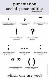 Learn about PUNCTUATION with VISUALS   EFL Teaching Journal   Scoop.it