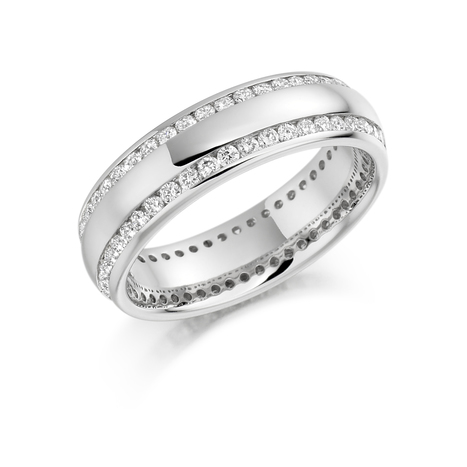 &quot;Snowdrop&quot; eternity ring is a eternity ring with double row of melee diamonds.<br/>http://tinyurl.com/zwr8xyf | Engagement rings Dublin Blog. | Scoop.it