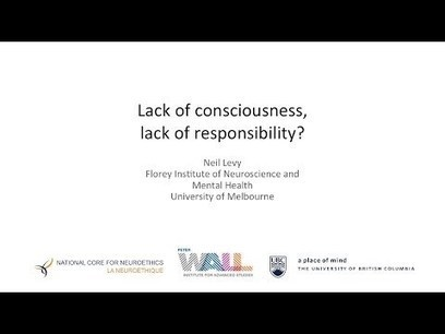 Lack of Consciousness, Lack of Responsibility? | Consciousness and the Brain | Scoop.it