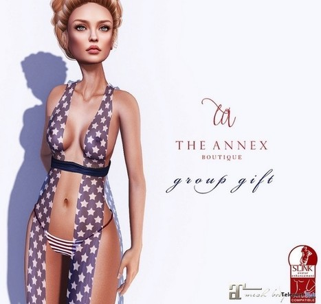 Rae Dress 4th of July Edition Group Gift by The Annex | Teleport Hub - Second Life Freebies | Second Life Freebies | Scoop.it