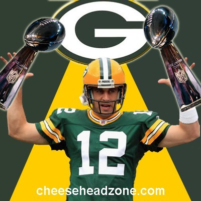 Aaron Rodgers With a Second Lombardi Trophy | Famous Packers' QBs. | Scoop.it
