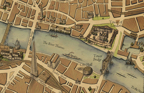 Grand Map of London: A New Map in an Old Style | Geography Education | Scoop.it