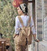Solid canvas backpack | shoulder bags for girls | personalized canvas messenger bags and backpack | Scoop.it