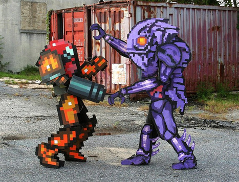 Metroid's 16 Bit Samus Costume in Real Life Pixel Monster Boss Battle | All Geeks | Scoop.it