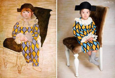 Children With Down Syndrome Recreate Famous Paintings To Prove That Everyone Is A Work Of Art   Voir et prier   Scoop.it