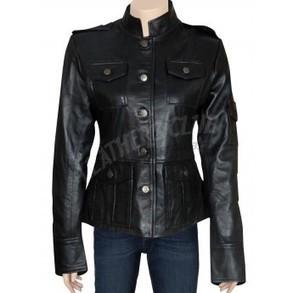 Get Smart Anne Hatheaway women Black Leather Jacket - Women Leather Jackets | Women Leather Jackets | Scoop.it