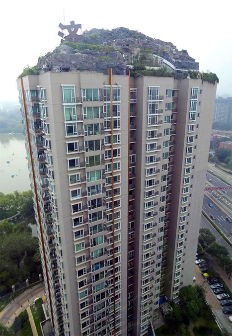 An Illegal Mountain Constructed Atop a 26-Story Residential Building in Beijing | Colossal | Radio Show Contents | Scoop.it