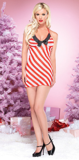 Sexy Christmas Candy Cane Chemise –SexyLingeriesDeal.com | Christmas Costumes | Scoop.it