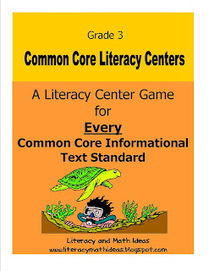 Grade 3 Common Core Informational Text Literacy Centers | William Floyd Elementary - 21st Century Learning | Scoop.it