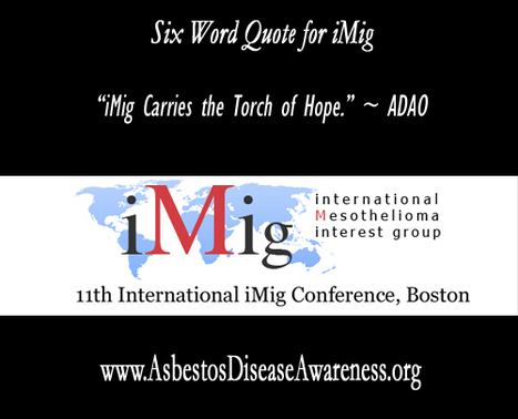 Global Mesothelioma Experts Convene at the 2012 iMig Conference « ADAO – Asbestos Disease Awareness Organization | Asbestos and Mesothelioma World News | Scoop.it