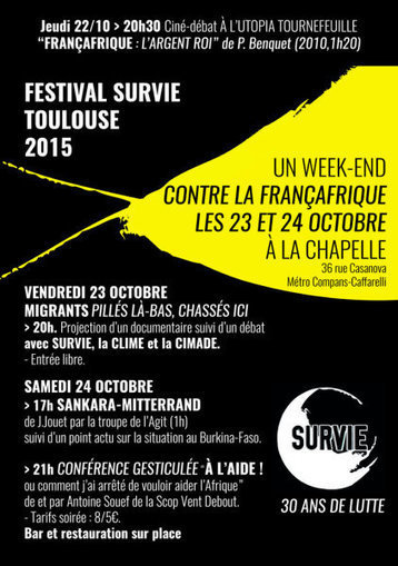 Festival contre la Françafrique du 22 au 24 octobre 2015 | Actualités Afrique | Scoop.it